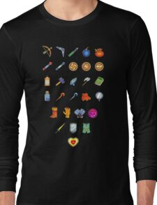 Zelda Inventory Long Sleeve T-Shirt