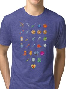 Zelda Inventory Tri-blend T-Shirt