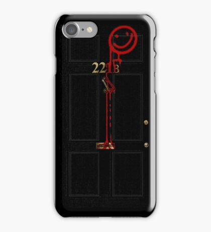 Smile! You're at 221B - red iPhone Case/Skin