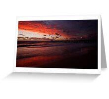 Henley Beach Sunset Greeting Card