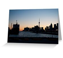 Toronto Downtown and Port Greeting Card