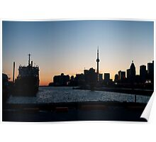 Toronto Downtown and Port Poster