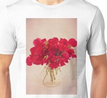 Red Sweet Pea Bouquet Unisex T-Shirt