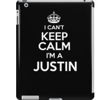 Surname or last name Justin? I can't keep calm, I'm a Justin! iPad Case/Skin