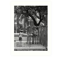 Waiting for the Water (Redfern Park) Art Print