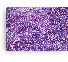 Abstract Roses- Purple Canvas Print