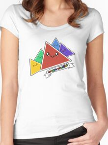Magic Missile - D4 - Four-sided dice Women's Fitted Scoop T-Shirt
