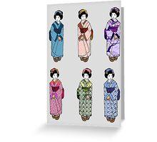 Geisha Girls Greeting Card