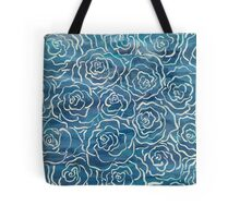 Abstract Roses- Blue Tote Bag