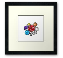 Polyhedral Pals - Rollin With My Homies - D20 Gaming Dice Framed Print