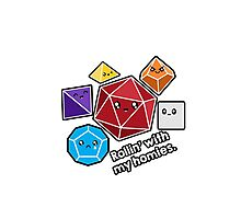 Polyhedral Pals - Rollin With My Homies - D20 Gaming Dice Photographic Print