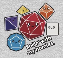 Polyhedral Pals - Rollin With My Homies - D20 Gaming Dice One Piece - Long Sleeve