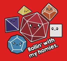 Polyhedral Pals - Rollin With My Homies - D20 Gaming Dice One Piece - Short Sleeve