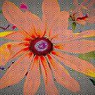 Light orange flower design by ♥⊱ B. Randi Bailey