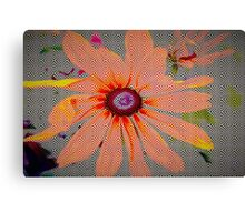 Light orange flower design Canvas Print