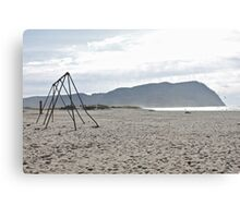Seaside Swingset - Seaside, Oregon Canvas Print