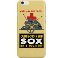 Knit Your Bit -- American Red Cross iPhone Case/Skin