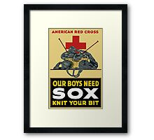 Knit Your Bit -- American Red Cross Framed Print