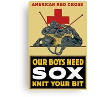 Knit Your Bit -- American Red Cross Canvas Print