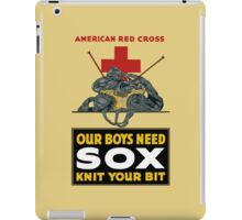 Knit Your Bit -- American Red Cross iPad Case/Skin