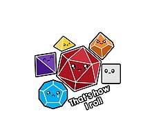 Polyhedral Pals - How I Roll - D20 Gaming Dice by whimsyworks