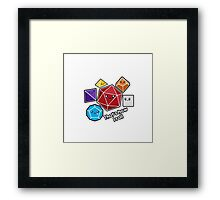 Polyhedral Pals - How I Roll - D20 Gaming Dice Framed Print