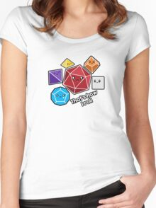 Polyhedral Pals - How I Roll - D20 Gaming Dice Women's Fitted Scoop T-Shirt