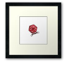 Polyhedral Pals - Crit Happens - D20 Gaming Dice Framed Print