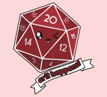 Polyhedral Pals - Crit Happens - D20 Gaming Dice One Piece - Long Sleeve