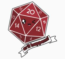 Polyhedral Pals - Crit Happens - D20 Gaming Dice Kids Tee