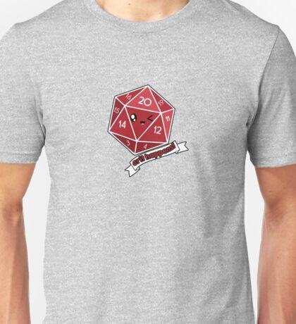 Polyhedral Pals - Crit Happens - D20 Gaming Dice Unisex T-Shirt