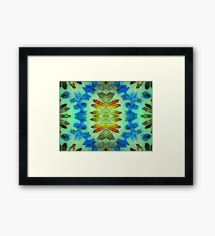 Garland (Fossil Coral) Framed Print