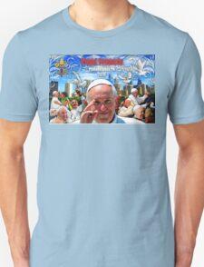 Pope Francis 2015 Philadelphia Visit-skyline background 2 T-Shirt
