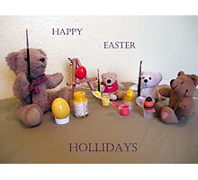 TEDDY EASTER-EGG ARTISTS SCHOOL CARD Photographic Print