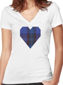 00752 Bank of Scotland 2000 Tartan  Women's Fitted V-Neck T-Shirt