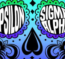 Epsilon Sigma Alpha Sugar Skull Sticker