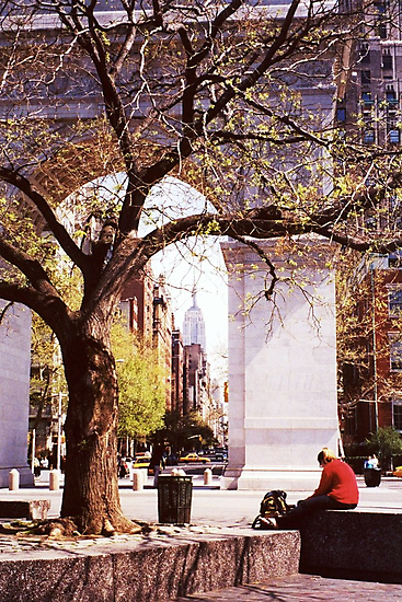 Spring In Washington Square, New York, NY by artwhiz47