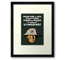 US Marines -- First To Fight Print Framed Print