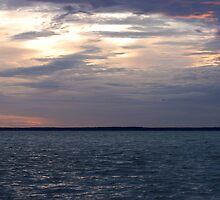 Curonian Lagoon in early morning by Antanas
