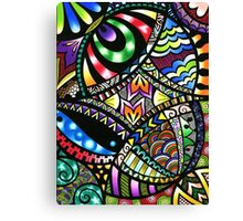 Carnival of cololurs Canvas Print