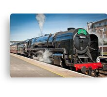 The Cathedrals Express: Steam Train. Canvas Print