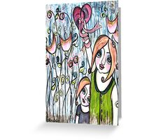MOTHERS GIVE THEIR WHOLE HEART Greeting Card