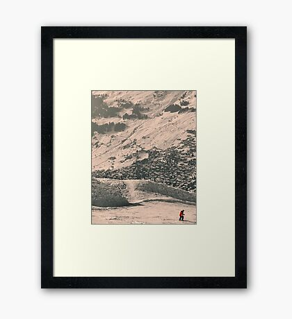 Verbier... an approach Framed Print