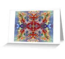 Rainbow Snowflake (Plume Agate) Greeting Card