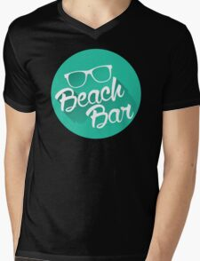 Summer Beach Bar Mens V-Neck T-Shirt