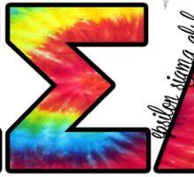 Epsilon Sigma Alpha Tie Dye Letters Sticker