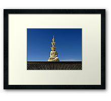 Buddha Statue, Emei Shan, Sichuan, China Framed Print
