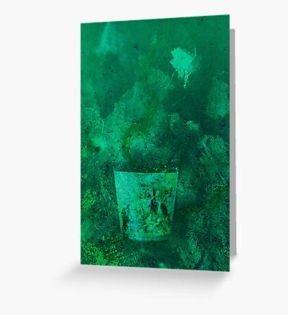Glass in deep water Greeting Card