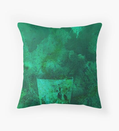 Glass in deep water Throw Pillow