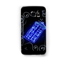 Dr Who Tardis painted with LED light Samsung Galaxy Case/Skin